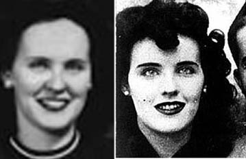 image of Elizabeth Short, the Black Dahlia, and an unknown woman