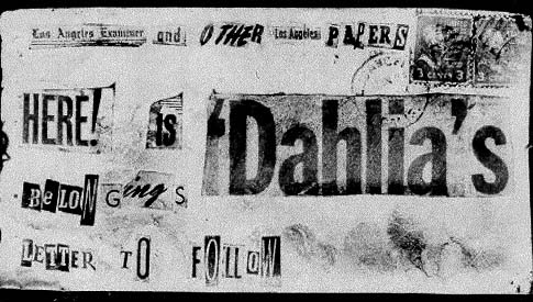 Envelope used by the killer to send the Black Dahlia's belongings to the Los Angeles Examiner